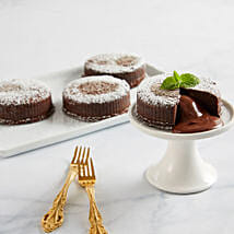 Chocolate Truffle Lava Cakes: Send Gifts to San Jose
