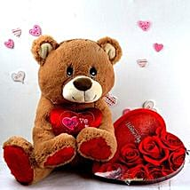 Chocolates N Love Teddy Combo: Valentine's Day Gift Delivery in Madison