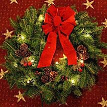 Classic Pre-Lit 24in Christmas Wreath: Send Corporate Gifts to USA