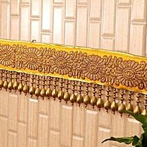 Classic Yellow N Golden Beads Bandhanwar: Send Diwali Gifts to USA