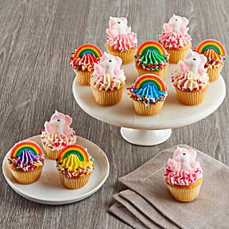 CRUMBS Mini Rainbows and Unicorns Cupcakes: Send Friendship Day Gifts to USA