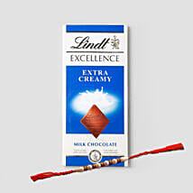 Delightful Rakhi And Lindt Combo: Rakhi Gifts for Brother in USA