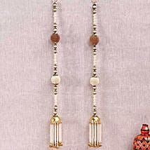 Designer Beads and Metallic Door Hanging: Diwali Gift Delivery in USA