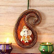 Designer Paisley Lord Ganesha Wall Mount: Send Diwali Gifts to USA