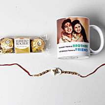 Designer Rakhi And Personalized Photo Mug: Rakhi Delivery in USA