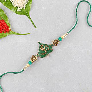 Divine Om Designer Rakhi: Devotional Rakhi Delivery in USA