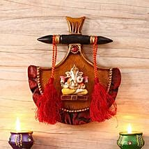 Ethnic Ganesha Wall Mount: Send Diwali Gifts to USA