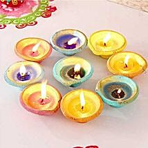 Exquisite Painted Clay Diyas: Send Diwali Gifts to USA