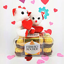 Ferrero Rocher Chocolates N Teddy Combo: Send Valentine Gifts to Cary