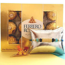 Ferrero Rocher With Designer Rakhi: Send Rakhi to Plano