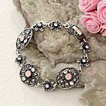 Floral Antique Bracelet: Send Gifts to Boston