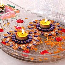 Glittering Floating Diya Set: Diwali Gift Delivery in USA