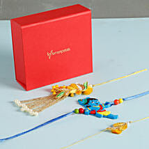 Glittering Rakhis Set Of 3: Send Rakhi to Tempe