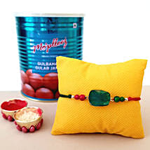 Gulab Jamun And Rakhi Combo: Rakhi Delivery in Phoenix