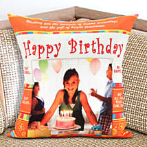 Happy Bday Personalized Cushion: Birthday Gifts to USA