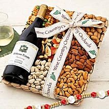 Hobson Estate Chardonnay and Mixed Nuts With Rakhi: Rakhi to California