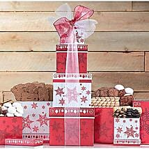 Holiday Cookie Tower: Christmas Gift Hampers to USA