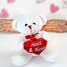 Hugs N Kisses Teddy Bear: Valentine's Day Gift Delivery in Columbus