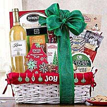 Joy to the World Sauvignon Blanc Basket: Christmas Gift Hampers to USA