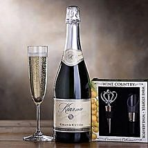 Kiarna Sparkling Wine Gift Set: Christmas Gift Baskets USA