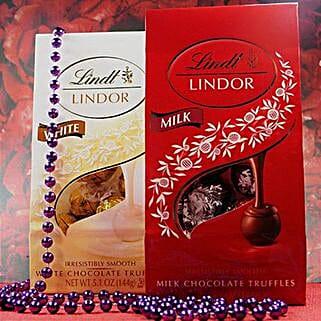Lindt Lindor Milk N White Chocolates: Friendship Day
