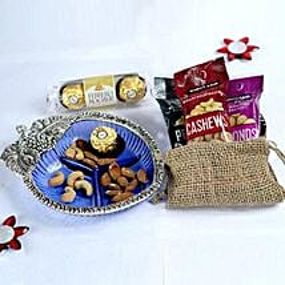 Love Poured In Metal Bowl: Send Bhai Dooj Gifts to USA