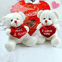 Love Teddies N Chocolates Combo: Valentine's Day Gifts to Kansas City