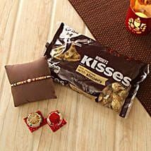 Lovely Rakhi with Hershey Kisses: Send Rakhi to Madison