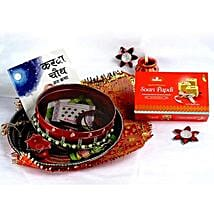 Magnificent Karwa Chauth Thali: Send Karwa Chauth Gifts to USA