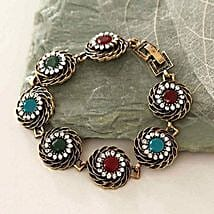 Multicolor Antique Bracelet: Send Gifts to Boston