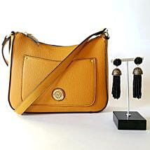 Mustard Yellow Purse Gift Set: Women's Day Gift Delivery in USA