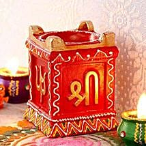 Pillar Clay Diya: Diwali Gift Delivery in USA