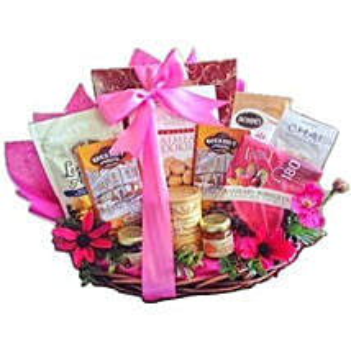 Pink Parade gift basket: Send Valentine Gifts to Madison