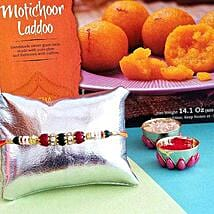 Rakhi And Laddoo Combo: Rakhi With Sweets USA