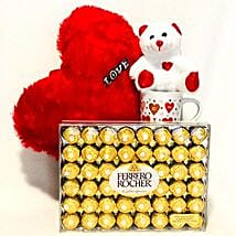 Red N White Romance Combo: Send Valentine Gifts to Cary