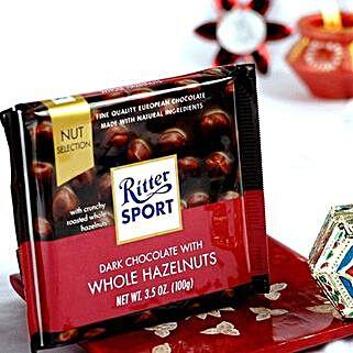 Ritter Dark Chocolates N Bhai Dooj Tikka: Bhai Dooj Gift Delivery in USA