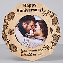 Romantic Anniversary One Personalised Wooden Frame: Send Gifts for Him to USA