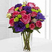 Romantic Melodies Bouquet: Send Roses to USA