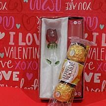 Rose N Chocolates Combo: Valentine's Day Gift Delivery in Cary