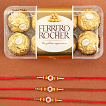 Set Of Traditional Rakhis With Rocher: