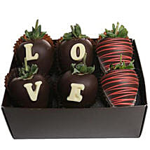 Strawberry Dipped In Belgian Chocolate: Chocolates for Birthday