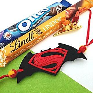 Superman Rakhi With Oreo Chocolates: Send Rakhi & Chocolates to USA