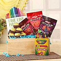 Tasty N Colorful Basket: Anniversary Chocolates in USA