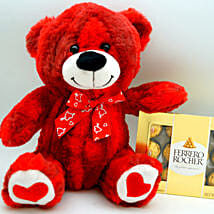 Teddy Bear N Ferrero Rocher: Gifts for Anniversary in USA