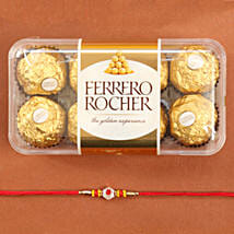 Traditional Rakhi With Ferrero Rocher: Rakhi to California