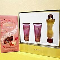 Versace Lindt Valentine Combo: Valentine's Day Gift Delivery in Cary