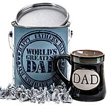 Worlds Greatest Dad with Kisses Mug: Send Birthday Chocolates to USA